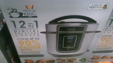 Lot 1009 2 BOXED PRESSURE KING PRO 5L 12-IN-1 DIGITAL PRESSURE COOKERS RRP £139.98
