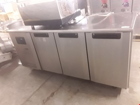 Lot 77 FOSTER THREE DOOR REFRIGERATED PREP COUNTER