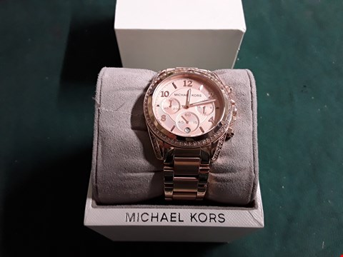 Lot 1505 MICHAEL KORS BLAIR ROSE GOLD STAINLESS STEEL STRAP WATCH  RRP £279