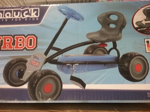 Lot 2713 BOXED GRADE 1 HAUCK TURBO PEDAL GO-CART IN BLUE RRP £99.99