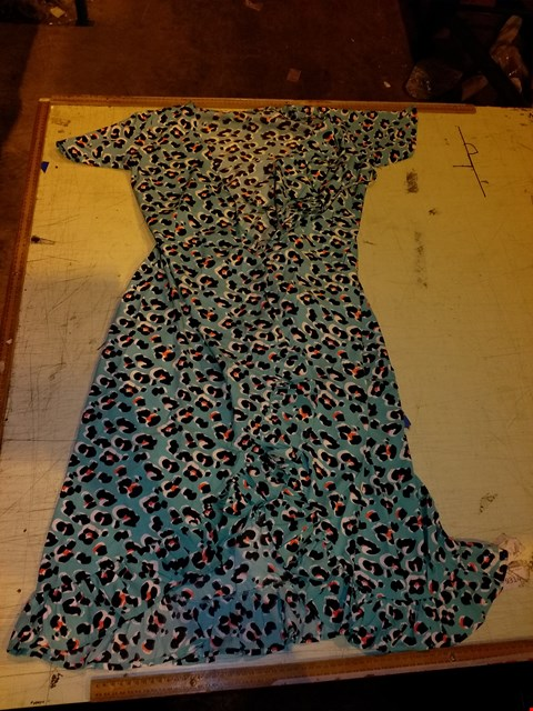Lot 6001 BOX OF APPROXIMATELY 50 WRAP DRESSES, MULTICOLOURED ANIMAL PRINT - SIZE 12/14