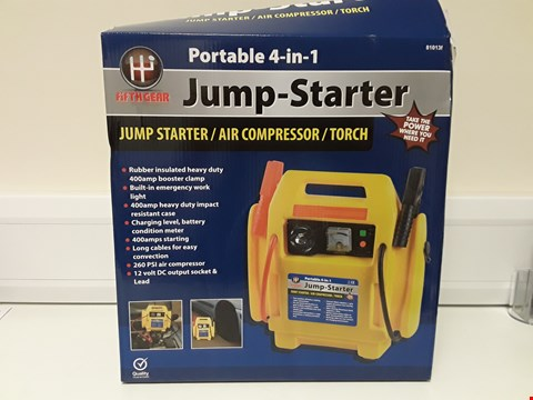 Lot 4181 BOXED PORTABLE 4 IN 1 JUMP-STARTER