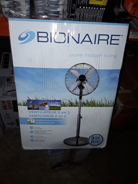 Lot 2133 BRAND NEW BOXED BIONAIRE BASF1516 DESK AND STAND FAN RRP £99.99