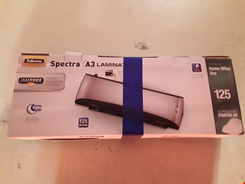 Lot 17 FELLOWES SPECTRA A3 LAMINATOR