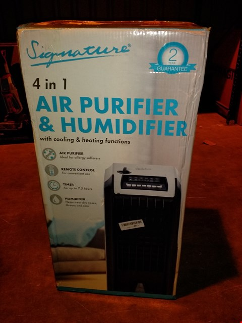 Lot 5833 SIGNATURE 4 IN 1 AIR PURIFIER AND DEHUMIDIFIER