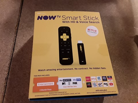 Lot 224 LOT OF 2 NOW TV SMART STICK WITH HD AND VOICE SEARCH