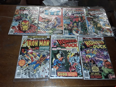 Lot 6047 LOT OF 7 SEALED MARVEL COMICS TO INCLUDE IRON MAN, IT, HOWARD THE DUCK