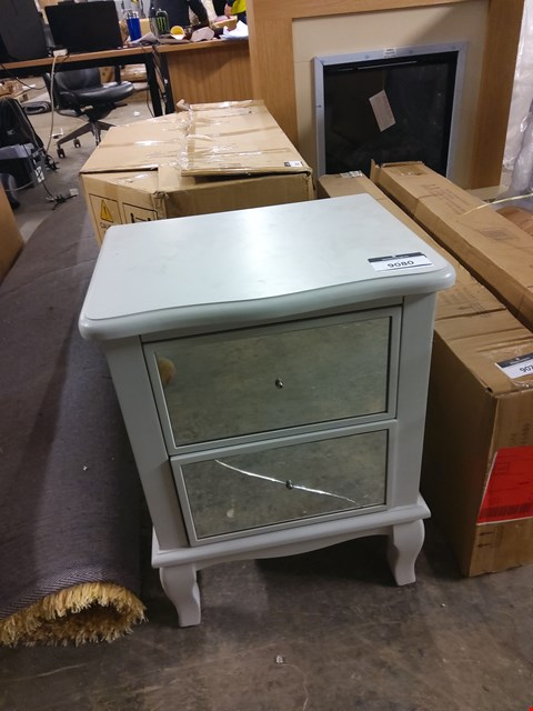 Lot 9080 DESIGNER LIGHT GREY BEDSIDE TABLE