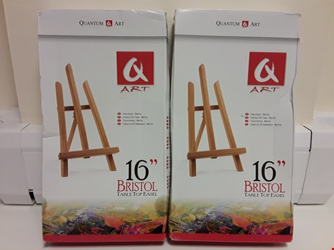 "Lot 6497 LOT OF 2 BOXED Q-ART 16"" BRISTOL TABLE TOP EASEL"