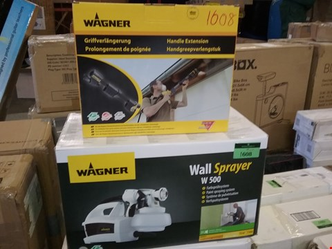 Lot 1608 BOXED WAGNER W500 WALL SPRAYER AND HANDLE EXTENTION 2 BOXES