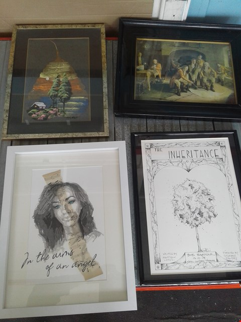 Lot 25 FOUR ASSORTED FRAMED ARTWORKS