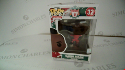 Lot 7112 BOXED POP FOOTBALL LIVERPOOL 32 SADIO MANE VINYL FIGURE