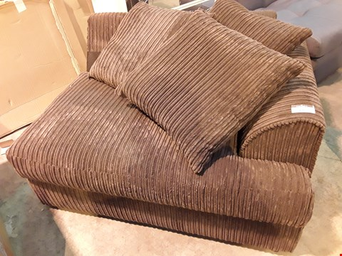 Lot 126 BROWN CHORD END SECTION WITH SCATTER CUSHIONS