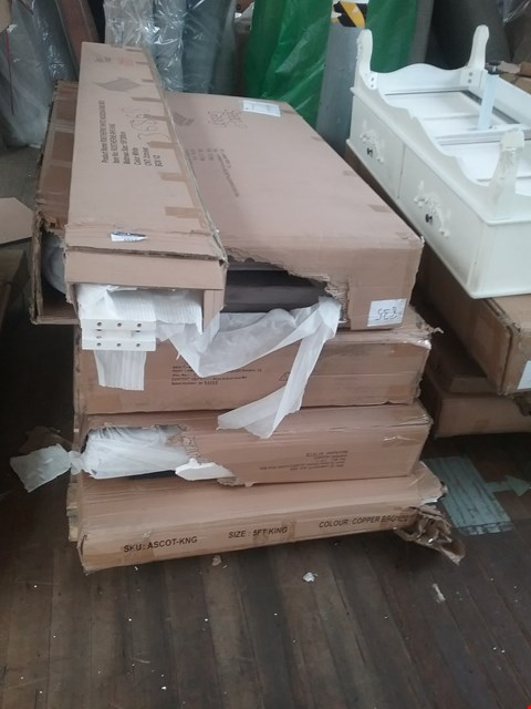 Lot 1077 PALLET OF ASSORTED FLAT PACK BED PARTS