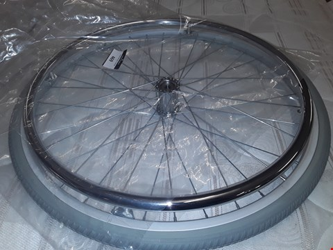 "Lot 469 24"" WHEELCHAIR REAR WHEEL WITH HANDBAR"