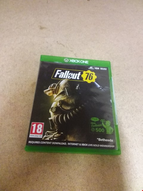 Lot 8234 FALLOUT 76 XBOX ONE GAME