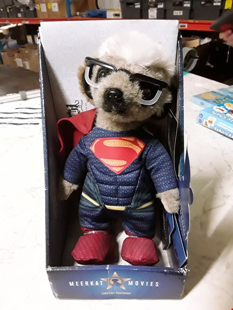 Lot 220 MEERKATS MOVIES SERGEI AS SUPERMAN BOXED PLUSH