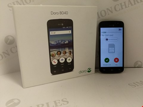 Lot 18381 DORO 8040 ANDROID BASED MOBILE PHONE IN GRAPHITE