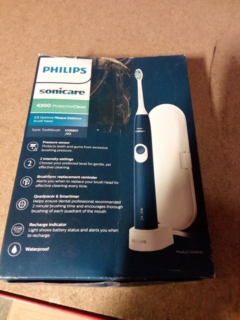 Lot 1323 PHILIPS SONICARE 4300 ELECTRIC TOOTH BRUSH