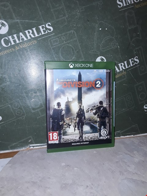 Lot 14467       XBOX ONE DIVISION 2 STANDARD EDITION - XBOX ONE RRP £19.99