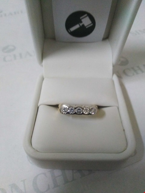 Lot 24 18CT GOLD HALF ETERNITY RING RUBOVER SET WITH DIAMONDS WEIGHING +0.52CT RRP £2040.00