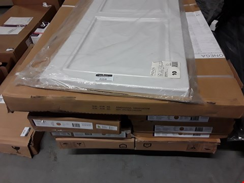 Lot 2096 PALLET OF ASSORTED SHOWER PANELS, FLAT PACK ITEMS ETC