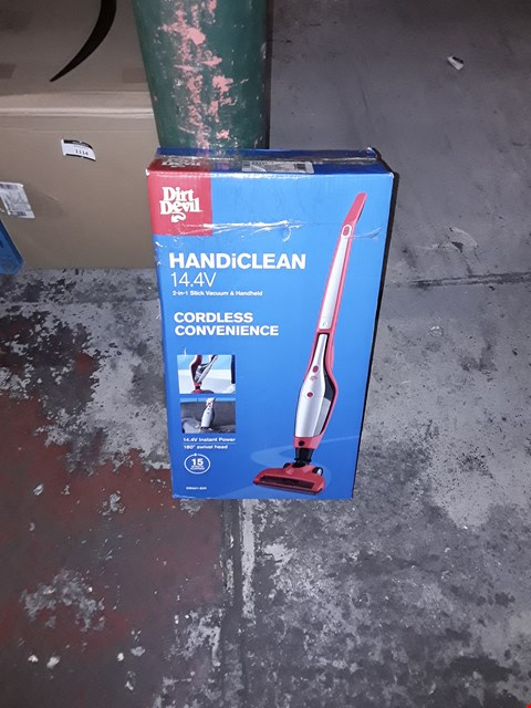 Lot 1099 DIRT DEVIL HANDICLEAN 2 IN 1 STICK VACUUM AND HANDHELD