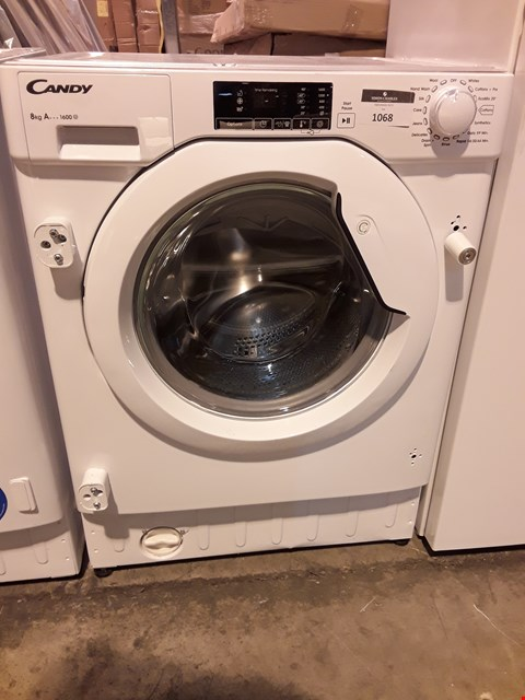 Lot 1068 CANDY 8Kg INTEGRATED WASHING MACHINE CBWM816D-80