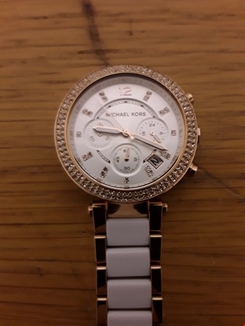 Lot 47 MICHAEL KORS PARKER ROSE GOLD STAINLESS STEEL WATCH  RRP £399