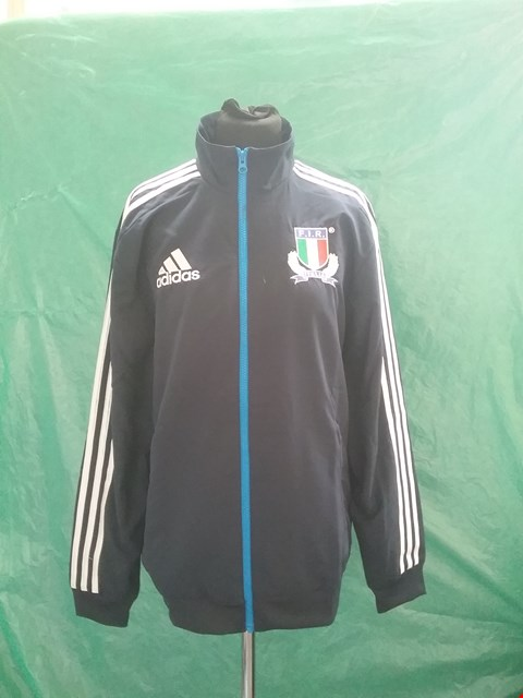 Lot 4140 BRAND NEW ADIDAS ITALY RUGBY PRESENTATION TRACKSUIT SIZE M