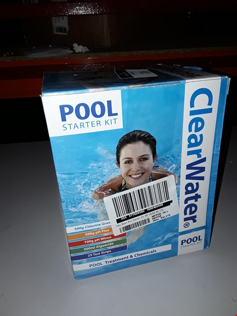 Lot 125 BRAND NEW CLEAR WATER POOL STARTER KIT RRP £37