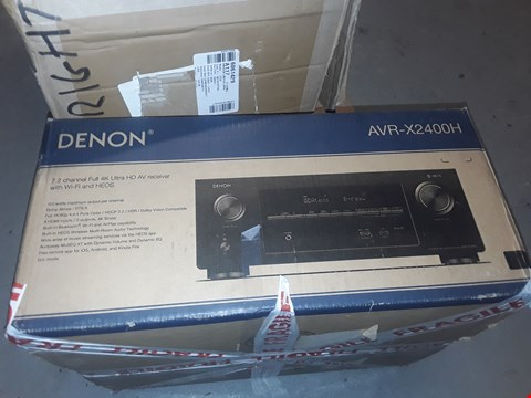 Lot 7306 DENON AVR-X2400H 7.2 CHANNEL AV SURROUND RECEIVER
