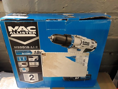 Lot 47 BOXED MAC ALLISTER CORDLESS 18V COMBI DRILL RRP £80.00