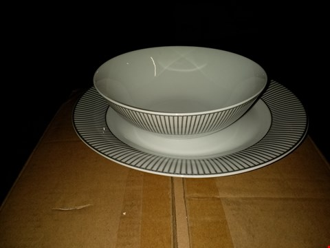Lot 2294 GRADE 1 SILVER BAND 12 PIECE DINNER SET RRP £44.99