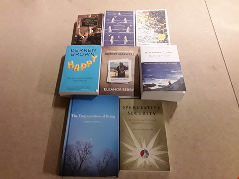 Lot 487 LOT OF APPROXIMATELY 8 ASSORTED BOOKS TO INCLUDE THE FRAGMENTATION OF BEING BY KRIS MCDANIEL, HAPPY BY DERREN BROWN, COMING HOME BY ROSAMUNDE PILCHER ETC