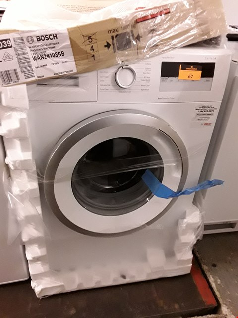 Lot 67 BOSCH VARIO-PERFECT SERIES 4 8KG 1400 SPIN WASHING MACHINE IN WHITE - AN24108GB RRP £599.99