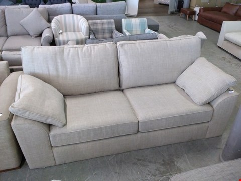 Lot 2013 QUALITY BRITISH DESIGN BEIGE FABRIC THREE SEATER SOFA