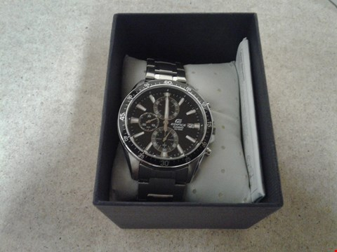 Lot 9044 CASIO EDIFICE BLACK MULTI DIAL STAINLESS STEEL WATCH RRP £259.00