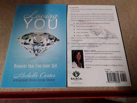 Lot 1855 BOX OF APPROXIMATELY 87 MICHELLE CARTER'S LOVING YOU - DISCOVER YOUR TRUE INNER SELF - BOOKS