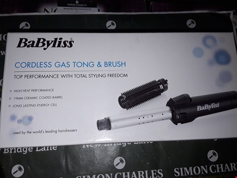 Lot 4047 BABYLISS,  CORDLESS GAS TONG AND BRUSH