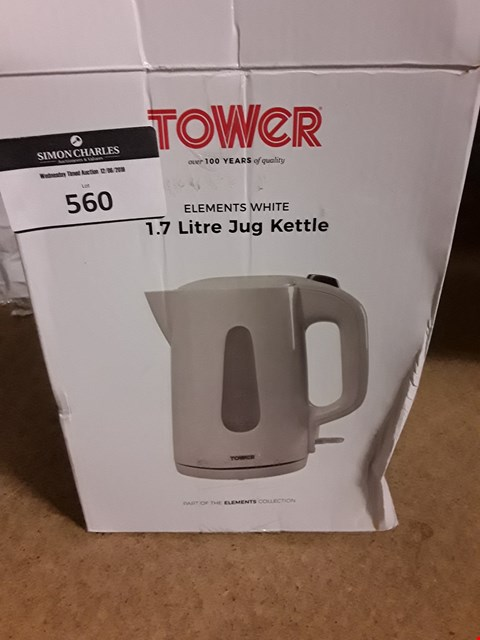 Lot 560 TOWER ELEMENTS WHITE 1.7 LITEE JUG KETTLE
