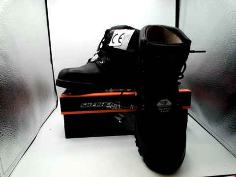 Lot 1002 BOXED PAIR OF DESIGNER SKECHERS WORK BOOTS - UK SIZE 11
