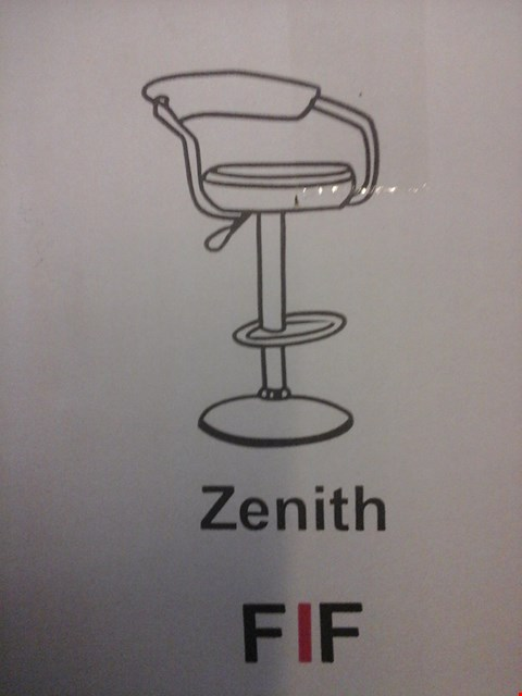 Lot 6035 FURNITURE IN FASHION 2 ZENITH GAS BAR STOOLS IN BLACK ( 1 BOX )