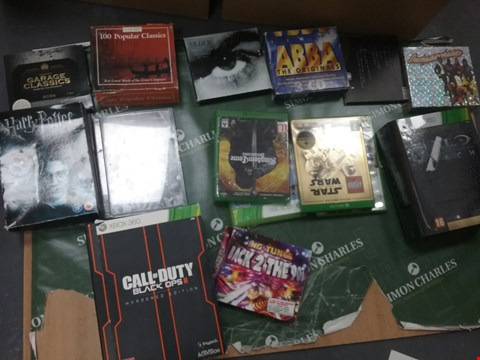 Lot 12082 A BOX OF APPROXIMATELY 25 ASSORTED DVD/BOXSETS/CONSOLE GAMES TO INCLUDE A CALL OF DUTY BLACK OPS 2 HARDENED EDITION AND A HARRY POTTER DVD