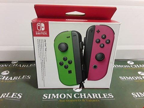 Lot 1276 NINTENDO SWITCH JOY-CON PAIR - GREEN/PINK RRP £93.00