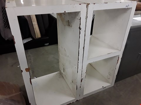 Lot 1052 TWO WHITE STORAGE/DISPLAY UNITS
