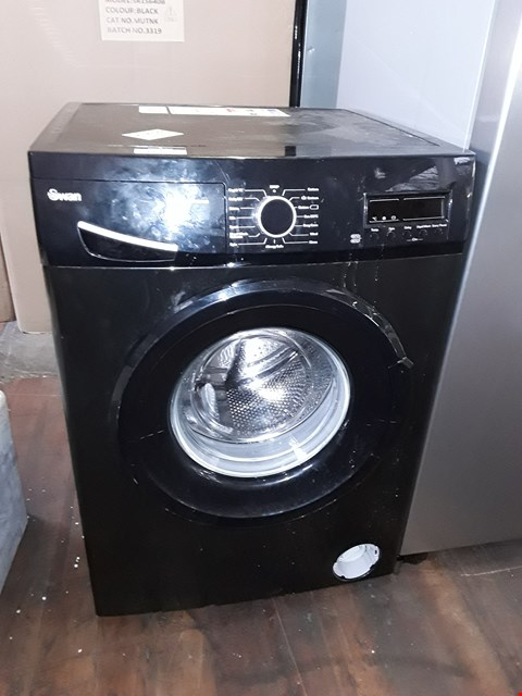 Lot 11023 SWAN SW15840B 9KG 1200 SPIN WASHING MACHINE IN BLACK