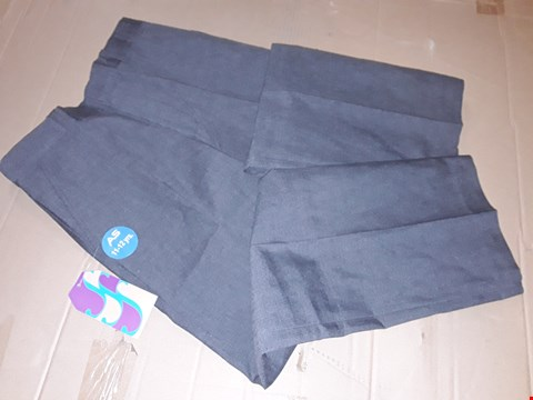 Lot 185 LOT OF APPROXIMATELY 120 PAIRS OF GREY BOYS TROUSERS IN VARIOUS SIZES