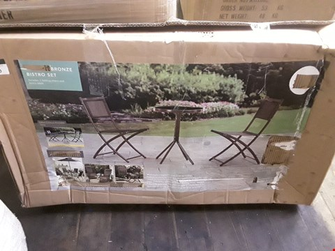 Lot 12260 BOXED BRONZE BISTRO SET (1 BOX ONLY)