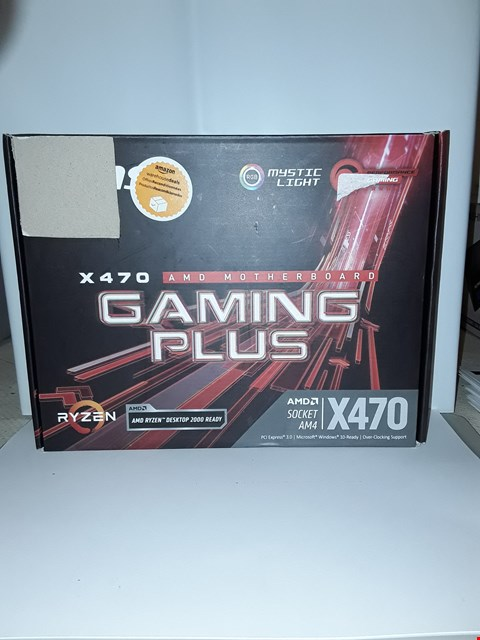 Lot 4015 MSI PERFORMANCE GAMING AMD X470 RYZEN 2 AM4 DDR4 ONBOARD GRAPHICS CFX ATX MOTHERBOARD (X470 GAMING PLUS)